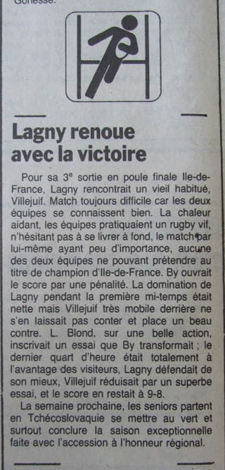 saison 1985 1986 as lagny rugby. Black Bedroom Furniture Sets. Home Design Ideas