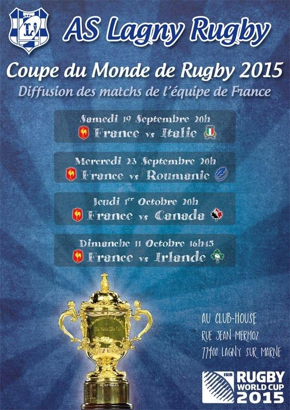 La coupe du monde au club house as lagny rugby - Diffusion match coupe de france ...