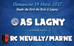 AS Lagny vs RC Neuilly/Marne dimanche